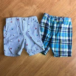 Pair Boys 18/24 month Nautica Shorts